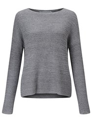 John Lewis Capsule Collection Mixed Stitch Crew Neck Jumper Grey