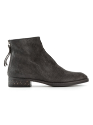 Premiata Pointed Toe Zipped Ankle Boots Grey
