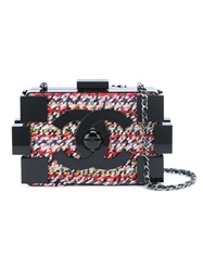Chanel Vintage 'Lego' Crossbody Bag Black