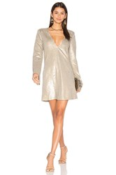 The Jetset Diaries Gold Diamond Long Sleeve Dress Beige