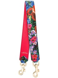 Dolce And Gabbana Floral Print Bag Strap Red