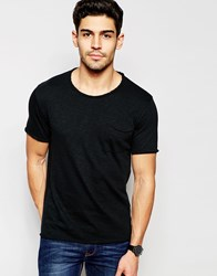 Selected Homme Scoop Neck T Shirt Black