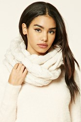 Forever 21 Cable Knit Infinity Scarf Cream