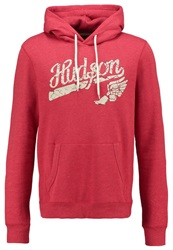 Pier One Hoodie Red Melange Mottled Red