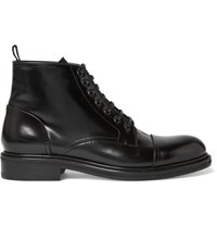 Loewe Polished Leather Boots Black