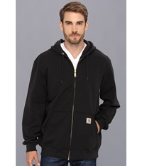 Carhartt Big Tall Midweight Hooded Zip Front Sweatshirt Black Men's Sweatshirt