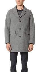Gerald And Stewart By Fidelity Wool Tailored Coat Grey