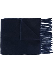 Polo Ralph Lauren Fringed Scarf Blue