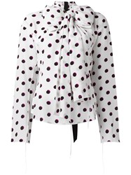 Marc Jacobs Dot Print Blouse White