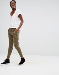 Only Ankle Grazer Cargo Trousers Green