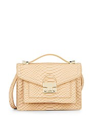 Loeffler Randall Mini Rider Embossed Leather Convertible Bag Nude