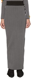 Christopher Kane Black And White Striped Skirt