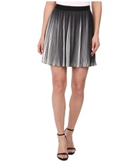 Sam Edelman Black And White Pleated Skirt Black White Women's Skirt