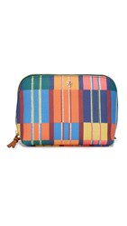 Tory Burch Kerrington Cosmetic Case Blanket Stripe