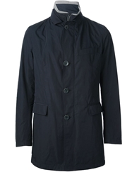 Herno Button Up Jacket Blue
