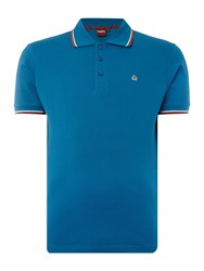 Merc Card Classic Twin Tipped Polo Shirt Bright Blue