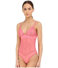 Stella Mccartney Millie Drawing Cami Bodysuit Camelia Rose Women's Lingerie Pink