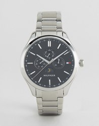 Tommy Hilfiger Oliver Chronograph Bracelet Watch In Stainless Steel Silver