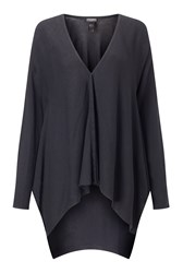 James Lakeland Side Drape Cardigan Black