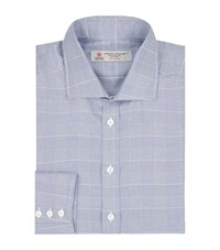 Turnbull And Asser Regent Houndstooth Check Shirt Male Navy