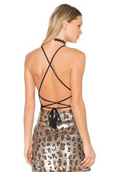 Riller And Fount X Revolve Lulu Halter Criss Cross Tank Black