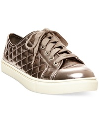Madden Girl Madden Girl Evette Quilted Sneakers Women's Shoes Pewter Par