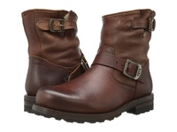 Frye Warren Engineer Whiskey Tumbled Leather Shearling Cowboy Boots Brown