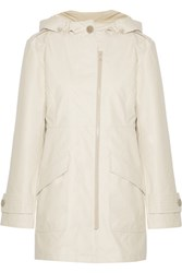 Joie Koy Hooded Coated Shell Jacket Off White