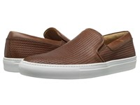 Aquatalia By Marvin K Anderson Nut Woven Full Grain Men's Slip On Shoes Brown