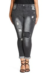 City Chic Plus Size Women's Rip Patch Skinny Jeans