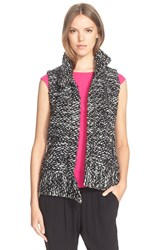 Rebecca Taylor 'Amsterdam' Tweed Vest Black White