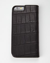 Black Alligator Iphone 6 Wallet Folio Neiman Marcus