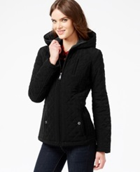 Laundry By Design Petite Faux Fur Lined Quilted Velour Coat