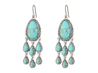 Lucky Brand Turquoise Pave Chandelier Earrings Silver Earring