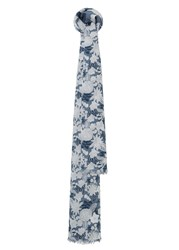 Mango Floral Cotton Scarf Navy