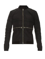 Hood By Air Padded Nylon Bomber Jacket Black