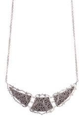 Lois Hill Sterling Silver Bib Necklace No Color
