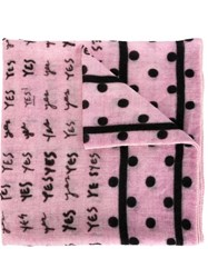 Massimo Alba Printed Scarf Pink And Purple