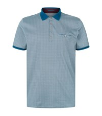 Ted Baker Primo Printed Polo Shirt Male Blue