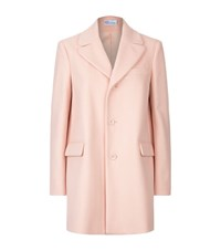 Red Valentino Single Breasted Wool Coat Female Pink