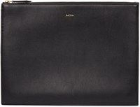 Paul Smith Black And Multicolor Leather Document Holder