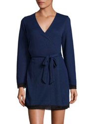 Cosabella Waldorf Robe Navy Black Marled Grey Heather