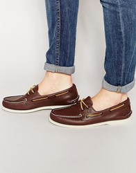 Sperry Topsider Leather Boat Shoes Brown