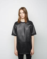 Maison Martin Margiela Line 4 Leather Tunic Dark Grey Melange