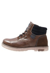Tom Tailor Laceup Boots Cognac Brown