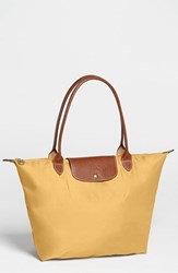 Longchamp 'Large Le Pliage' Tote Yellow Curry