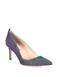 Sarah Jessica Parker Fawn Shimmer Point Toe Pumps Teal