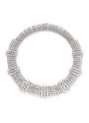 Cz By Kenneth Jay Lane Marquise Cut Cubic Zirconia Station Necklace Metallic