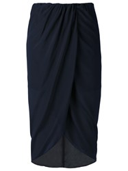 Egrey High Waisted Midi Skirt Blue