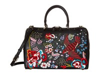 Alice Olivia Bird Party Embroidered Eloise Bowler Black Handbags